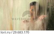 Купить «Woman playing with water in the shower», видеоролик № 29683170, снято 2 октября 2012 г. (c) Wavebreak Media / Фотобанк Лори