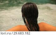 Купить «Woman relaxing in jacuzzi», видеоролик № 29683182, снято 2 октября 2012 г. (c) Wavebreak Media / Фотобанк Лори