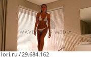 Купить «Sexy woman leaving the bath», видеоролик № 29684162, снято 25 марта 2013 г. (c) Wavebreak Media / Фотобанк Лори