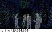 Купить «Digital animation showing business people silhouettes », видеоролик № 29684654, снято 3 мая 2013 г. (c) Wavebreak Media / Фотобанк Лори