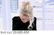 Купить «Beautiful blonde woman having headache », видеоролик № 29685650, снято 6 августа 2013 г. (c) Wavebreak Media / Фотобанк Лори