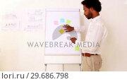 Купить «Handsome businessman giving a presentation», видеоролик № 29686798, снято 19 декабря 2013 г. (c) Wavebreak Media / Фотобанк Лори