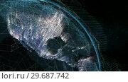 Купить «Close up of the Earth turning on itself», видеоролик № 29687742, снято 31 марта 2016 г. (c) Wavebreak Media / Фотобанк Лори