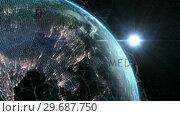 Купить «Close up of the Earth turning on itself», видеоролик № 29687750, снято 31 марта 2016 г. (c) Wavebreak Media / Фотобанк Лори