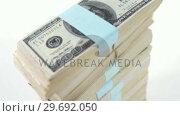 Купить «Close-up of stack of money», видеоролик № 29692050, снято 12 августа 2016 г. (c) Wavebreak Media / Фотобанк Лори