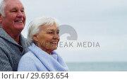Купить «Happy senior couple looking at view», видеоролик № 29693654, снято 29 сентября 2016 г. (c) Wavebreak Media / Фотобанк Лори
