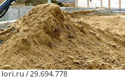 Купить «Excavator loading soil», видеоролик № 29694778, снято 5 октября 2016 г. (c) Wavebreak Media / Фотобанк Лори