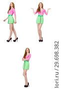 Купить «Beautiful woman in green skirt», фото № 29698382, снято 7 июля 2020 г. (c) Elnur / Фотобанк Лори
