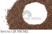 Купить «Coffee beans forming circle», видеоролик № 29700582, снято 6 октября 2016 г. (c) Wavebreak Media / Фотобанк Лори