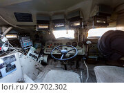 Купить «Inside the unified command-staff vehicle R-149MA1 of russian army based on the BTR-80», фото № 29702302, снято 27 января 2018 г. (c) FotograFF / Фотобанк Лори