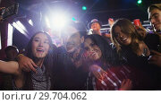 Купить «Group of people taking selfie with mobile phone 4k», видеоролик № 29704062, снято 7 марта 2017 г. (c) Wavebreak Media / Фотобанк Лори
