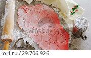 Купить «Steel jar with cookies dough and cutter 4k», видеоролик № 29706926, снято 5 мая 2017 г. (c) Wavebreak Media / Фотобанк Лори