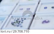 Varieties of jewel in boxes 4k. Стоковое видео, агентство Wavebreak Media / Фотобанк Лори