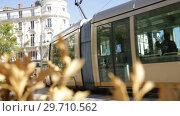 Купить «View of main square of Orleans - Place du Martroi in sunny autumn day», видеоролик № 29710562, снято 9 октября 2018 г. (c) Яков Филимонов / Фотобанк Лори