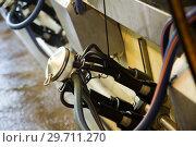 Купить «Close up of automatic milking cluster», фото № 29711270, снято 23 мая 2017 г. (c) Яков Филимонов / Фотобанк Лори