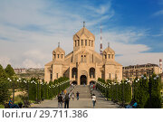 Купить «St. Gregory the Illuminator Cathedral, Yerevan, Armenia», фото № 29711386, снято 21 сентября 2018 г. (c) Наталья Волкова / Фотобанк Лори