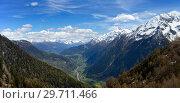 Купить «Snow mountains and valley in Switzerland», фото № 29711466, снято 15 мая 2017 г. (c) Михаил Коханчиков / Фотобанк Лори