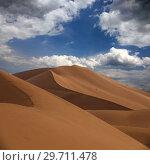 Купить «Big sand dunes in desert», фото № 29711478, снято 13 февраля 2018 г. (c) Михаил Коханчиков / Фотобанк Лори