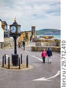 Купить «Lyme Regis 20th century conflicts clock in the Cobb Gate Car Park. Lyme Regis. England», фото № 29712410, снято 12 мая 2009 г. (c) Serg Zastavkin / Фотобанк Лори