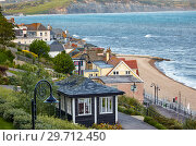 The beautiful view from the Seafront gardens to the seacoast of Lyme Regis. West Dorset. England (2009 год). Стоковое фото, фотограф Serg Zastavkin / Фотобанк Лори