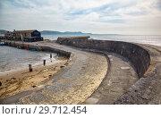 Купить «Victoria Pier of the Cobb. Lyme Regis. West Dorset. England», фото № 29712454, снято 12 мая 2009 г. (c) Serg Zastavkin / Фотобанк Лори