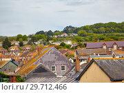Купить «The roofs of the small town in West Dorset. England», фото № 29712466, снято 12 мая 2009 г. (c) Serg Zastavkin / Фотобанк Лори