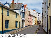 Купить «The view of the small street in Lyme Regis. West Dorset. England», фото № 29712474, снято 12 мая 2009 г. (c) Serg Zastavkin / Фотобанк Лори