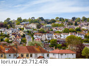 Купить «The small town of Lyme Regis on the slope of the hill. West Dorset. England», фото № 29712478, снято 12 мая 2009 г. (c) Serg Zastavkin / Фотобанк Лори