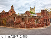 The remains St Catherine's Chapel and Almshouses. Exeter. Devon. England (2009 год). Стоковое фото, фотограф Serg Zastavkin / Фотобанк Лори