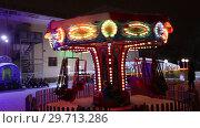 Купить «Новогодняя карусель», видеоролик № 29713286, снято 18 июля 2019 г. (c) Евгений Ткачёв / Фотобанк Лори