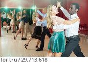People dancing slow ballroom dances in pairs. Стоковое фото, фотограф Яков Филимонов / Фотобанк Лори