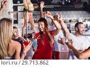 Купить «Female and male in the night club», фото № 29713862, снято 28 августа 2017 г. (c) Яков Филимонов / Фотобанк Лори