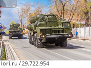 Купить «Russia, Samara, May 2018: Anti-aircraft missile system (SAM) S-300 parked up on the city street», фото № 29722954, снято 5 мая 2018 г. (c) Акиньшин Владимир / Фотобанк Лори