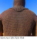 Купить «chain mail and helmet of the Russian warrior», фото № 29723154, снято 29 июля 2018 г. (c) Акиньшин Владимир / Фотобанк Лори