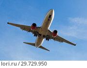 Купить «Passenger plane departing in afternoon», фото № 29729950, снято 21 марта 2019 г. (c) Яков Филимонов / Фотобанк Лори