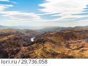 Купить «view of grand canyon cliffs and colorado river», фото № 29736058, снято 1 марта 2018 г. (c) Syda Productions / Фотобанк Лори
