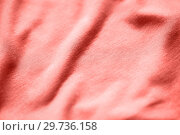 Купить «textile or fabric texture in living coral color», фото № 29736158, снято 15 сентября 2016 г. (c) Syda Productions / Фотобанк Лори