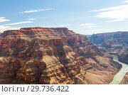 Купить «view of grand canyon cliffs and colorado river», фото № 29736422, снято 1 марта 2018 г. (c) Syda Productions / Фотобанк Лори