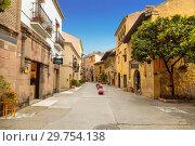Купить «The Spanish village in Barcelona is an open-air Museum. Catalonia, Spain», фото № 29754138, снято 6 апреля 2018 г. (c) Наталья Волкова / Фотобанк Лори