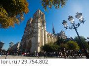 Купить «Cathedral of Notre-Dame, Paris», фото № 29754802, снято 10 октября 2018 г. (c) Яков Филимонов / Фотобанк Лори