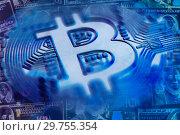 Купить «Exchange bitcoin for a dollar. Finance background.», фото № 29755354, снято 20 января 2019 г. (c) bashta / Фотобанк Лори