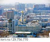 Купить «Городской пейзаж. Вид сверху. Екатеринбург», фото № 29756770, снято 27 февраля 2012 г. (c) Сергей Афанасьев / Фотобанк Лори