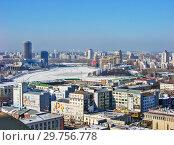 Купить «Городской пейзаж. Вид сверху. Екатеринбург», фото № 29756778, снято 27 февраля 2012 г. (c) Сергей Афанасьев / Фотобанк Лори
