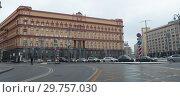 Купить «Лубянка, город Москва», эксклюзивное фото № 29757030, снято 19 января 2019 г. (c) Дмитрий Неумоин / Фотобанк Лори