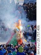 Купить «Проводы зимы. Масленичные гуляния», фото № 29757406, снято 13 марта 2016 г. (c) Сапрыгин Сергей / Фотобанк Лори