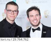 Купить «71st EE British Academy Film Awards (BAFTA) - Press Room Featuring: Will Poulter, Sam Claflin Where: London, United Kingdom When: 18 Feb 2018 Credit: WENN.com», фото № 29764762, снято 18 февраля 2018 г. (c) age Fotostock / Фотобанк Лори