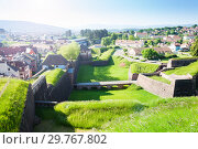 Купить «Belfort cityscape viewed from famous citadel walls», фото № 29767802, снято 25 мая 2017 г. (c) Сергей Новиков / Фотобанк Лори