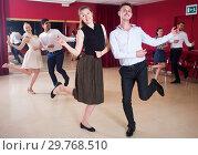 Купить «Couples dancing boogie-woogie», фото № 29768510, снято 24 мая 2017 г. (c) Яков Филимонов / Фотобанк Лори