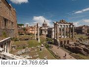 Купить «Forum Romanum in Rome, Italy», фото № 29769654, снято 15 августа 2018 г. (c) Stockphoto / Фотобанк Лори