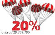 Купить «Twenty percent discount», видеоролик № 29769790, снято 21 января 2019 г. (c) WalDeMarus / Фотобанк Лори